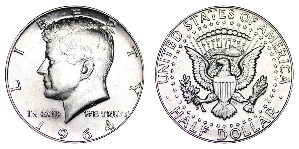 64 Kennedy Silver Half Dollar