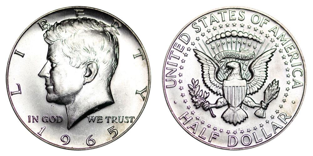 65 Kennedy Silver Half Dollars
