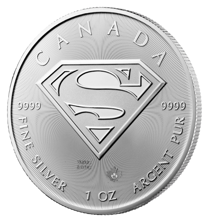 Royal Canadian Mint Superman Coins