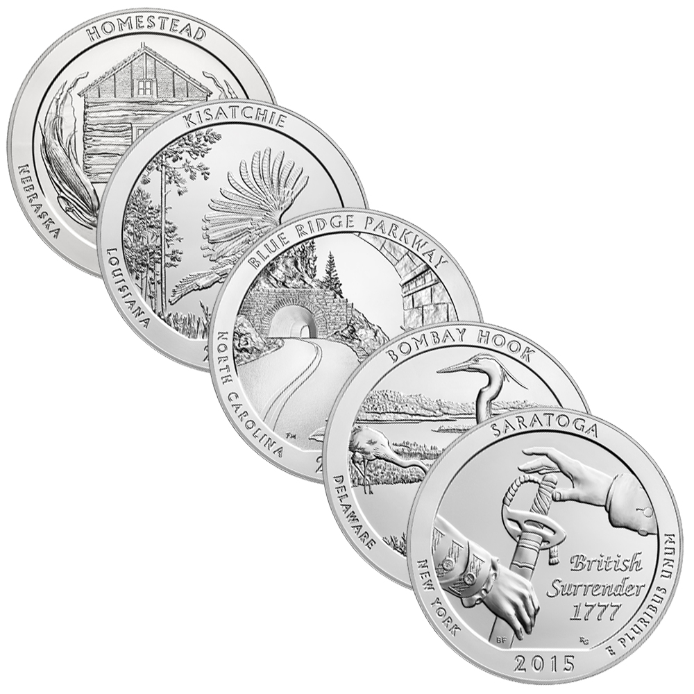 America The Beautiful (ATB) 5 oz Silver Quarter Coins | US Mint Silver