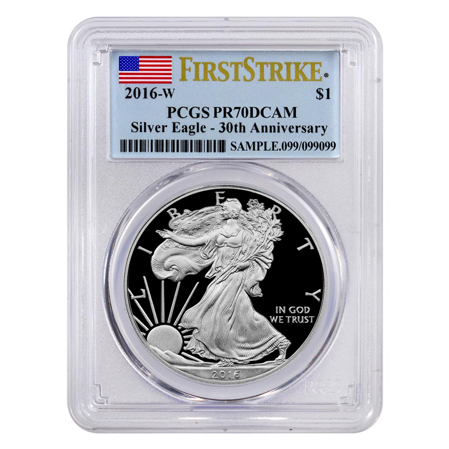 PCGS Graded American Silver Eagle Proof Coins-image