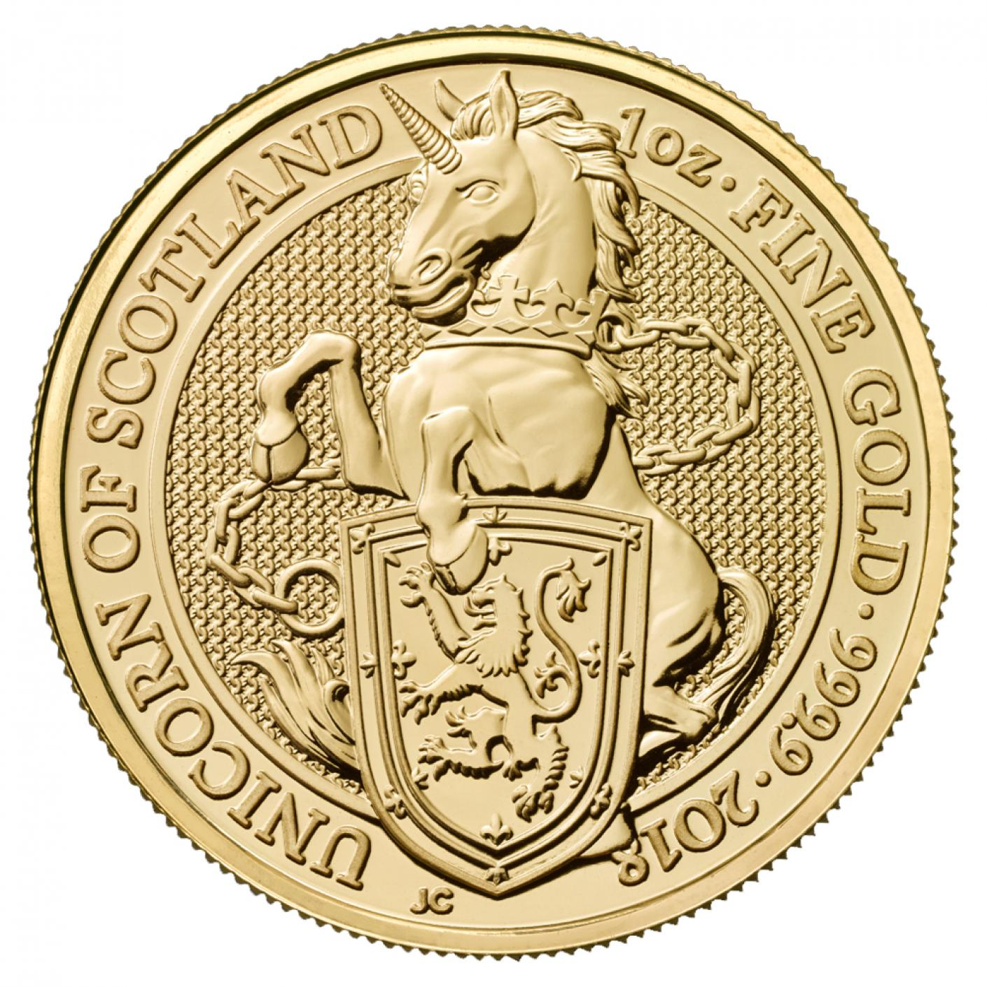 Royal Mint Gold Queen's Beast Coins