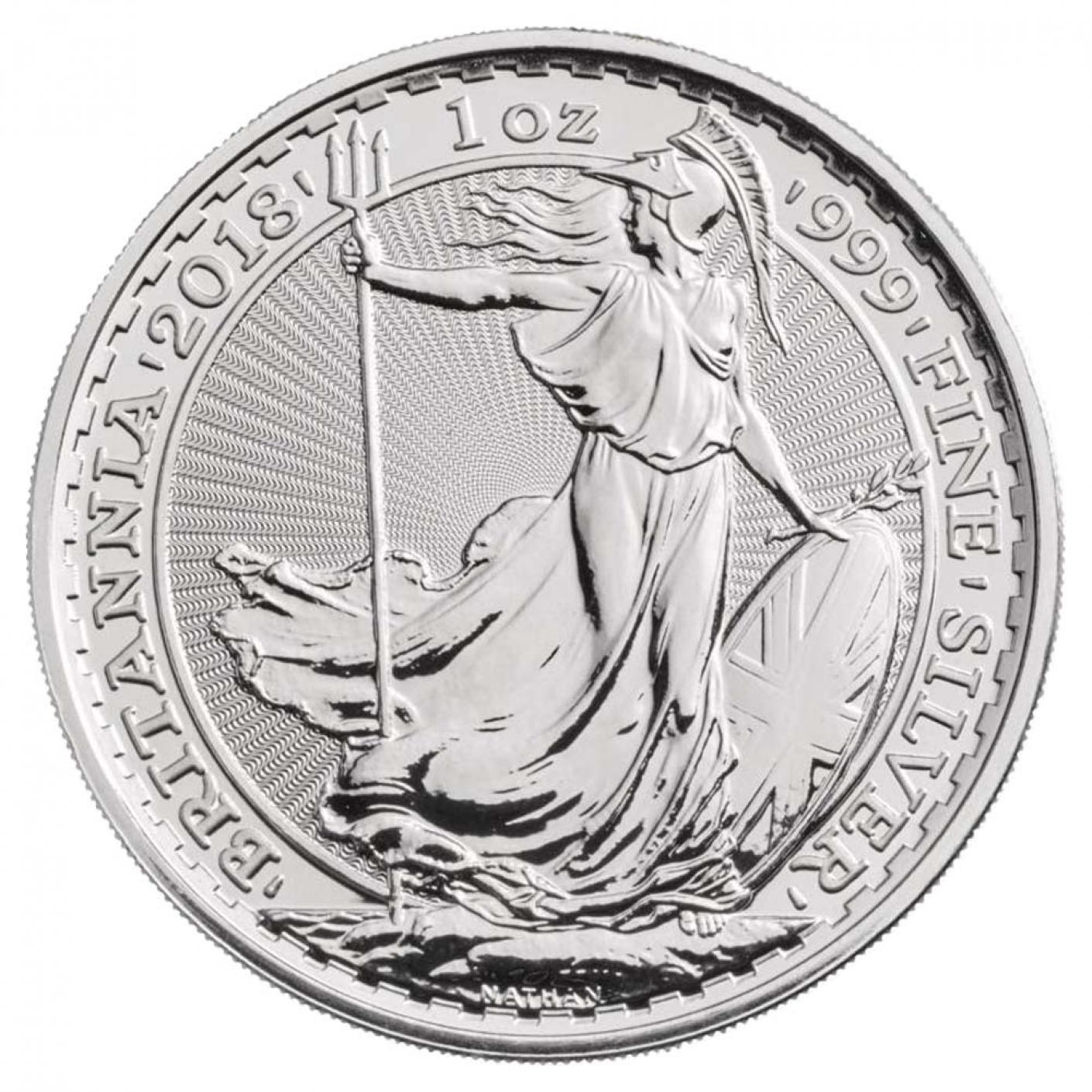 Royal Mint Silver Britannia Coins