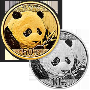2018 Gold & Silver Panda Coins-image
