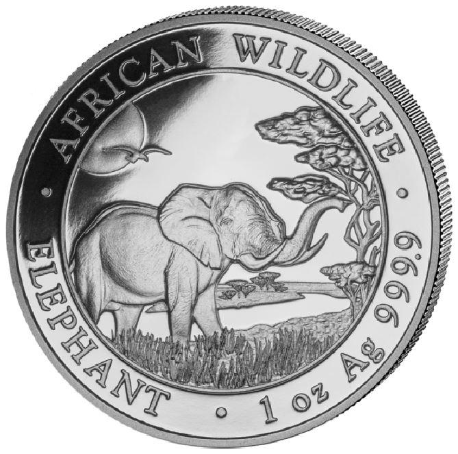 Somalian Elephant Silver Coins-image