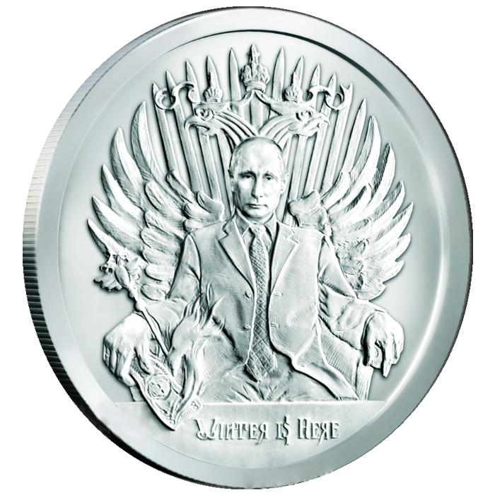 2017 2  oz .999 fine silver Winter is Here BU w//coa SILVER//COPPER SHIELD Putin