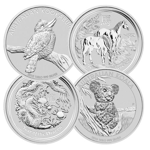 1 Kilo Silver Coins