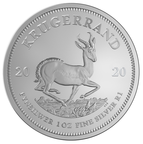 South African Silver Krugerrand Coins-image