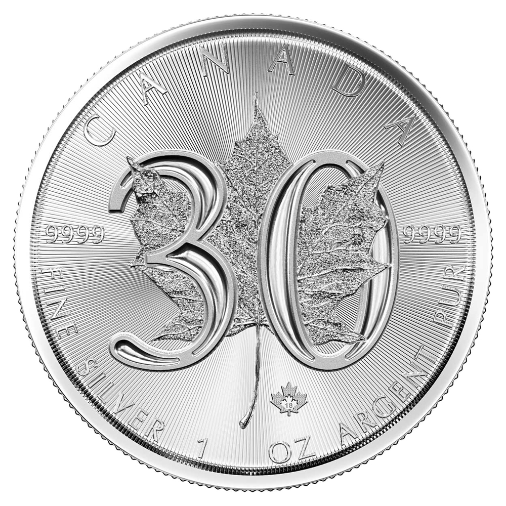 2 oz Fine Silver Bar Set Canada 2018 3 oz 30th Anniversary Maple Leaf 1 oz