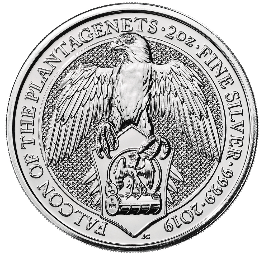 2019 2 oz queen s beasts falcon of the plantagenets silver coin Falcon Leather Holsters