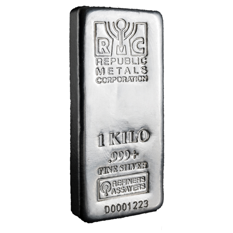1 Kilo Republic Metals Silver Bar Scootsdale The One 1oz