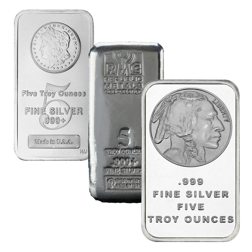 Generic 5 Oz Silver Bar Our Choice