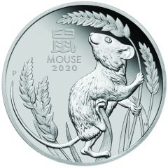 2020 1 oz Year of the Mouse Platinum Proof Coin - Perth Mint Lunar Series III
