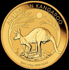 2019 Australian Kangaroo Gold Coin 1/2 oz