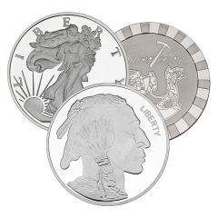 5 oz Generic Silver Rounds 0.999 Fine