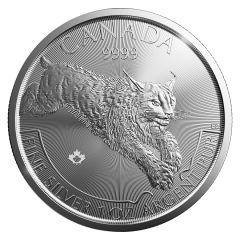 2017 1 oz Silver Lynx Coin - RCM Predator Series Second Release
