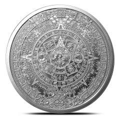 1 oz Aztec Calendar Silver Round