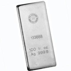 100 oz Royal Canadian Mint (RCM) Silver Bar - Random Design