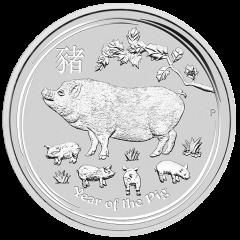 2019 Australian Lunar Year of the Pig Silver Coin 1/2 oz