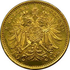1915 Austrian Gold 10 Corona BU (Restrike)