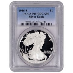 1986-S PCGS PR-70 American Silver Eagle Proof Coin
