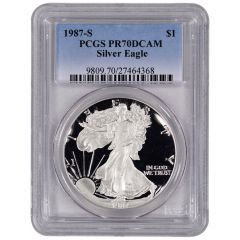 1987-S PCGS PR-70 American Silver Eagle Proof Coin