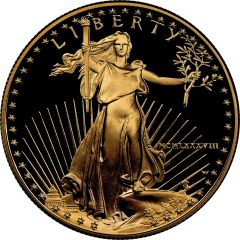 1988 1 oz American Gold Eagle Proof Coin