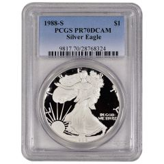 1988-S PCGS PR-70 American Silver Eagle Proof Coin