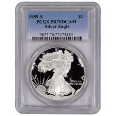 1989-S PCGS PR-70 American Silver Eagle Proof Coin