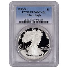 1990-S PCGS PR-70 American Silver Eagle Proof Coin