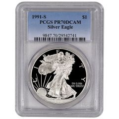 1991-S PCGS PR-70 American Silver Eagle Proof Coin