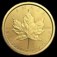 1 oz Canadian Gold Maple Leaf Coin - Random Year