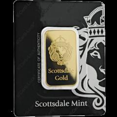 1 oz Scottsdale Mint Lion Gold Bar - in Certi-Lock
