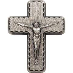 2 oz Lord's Prayer Silver Crucifix Cross