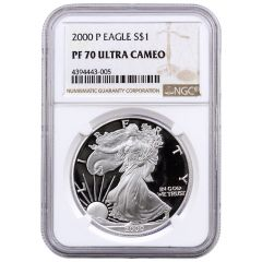 2000-P NGC PF-70 Proof American Silver Eagle Coin