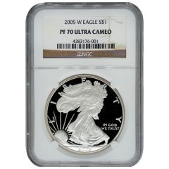 2005-W NGC PF-70 Proof American Silver Eagle Coin