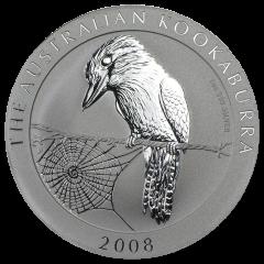 2008 1 oz Australian Kookaburra Silver Coin