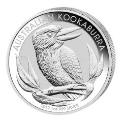 2012 1 oz Australian Kookaburra Silver Coin