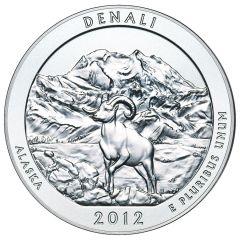 2012 Silver 5 oz Denali America The Beautiful