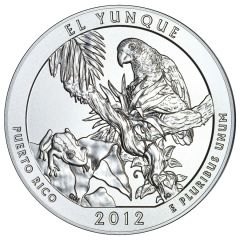 2012 Silver 5 oz El Yunque America The Beautiful