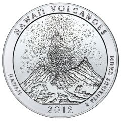 2012 Silver 5 oz Hawai'i Volcanoes America The Beautiful