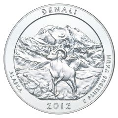 2012 Denali 5 oz Burnished Silver Coin - America The Beautiful
