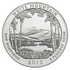 2013 Silver 5 oz White Mountain National Park America The Beautiful