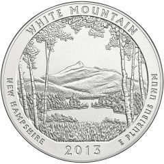 2013 White Mountain Park 5 oz Burnished Silver Coin - America The Beautiful