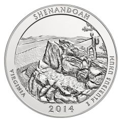 2014 Silver 5 oz ATB Shenandoah America The Beautiful