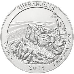 2014 Shenandoah 5 oz Burnished Silver Coin - America The Beautiful