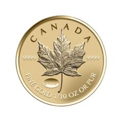 2015 1/10th oz Canadian Gold Maple Leaf Coin - Theory Of Relativity Privy Reverse Proof