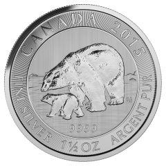 2015 Royal Canadian Mint Polar Bear Silver Coins 1.5 oz