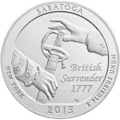2015 Saratoga 5 oz Burnished Silver Coin - America The Beautiful