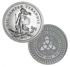 2014 Silver Shield Sic Semper Tyrannis 5 oz Silver Round